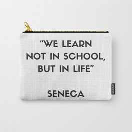 Stoic Philosophy Quote by Seneca Carry-All Pouch
