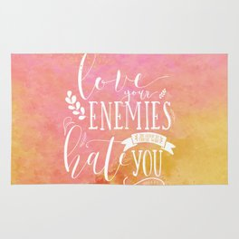 LUKE 6:27 (Love Your Enemies) Rug