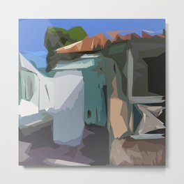 ST. Maarten Color Block House  Metal Print