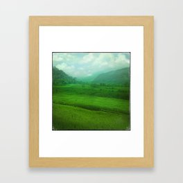 Tropical Winter, Green Jade Framed Art Print