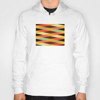 diamonds Hoodies featuring multicolor diamond pattern by Gary Andrew Clarke