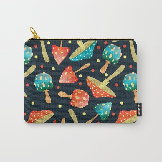 Bright mushrooms Carry-All Pouch