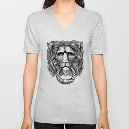 The lion Unisex V-Neck