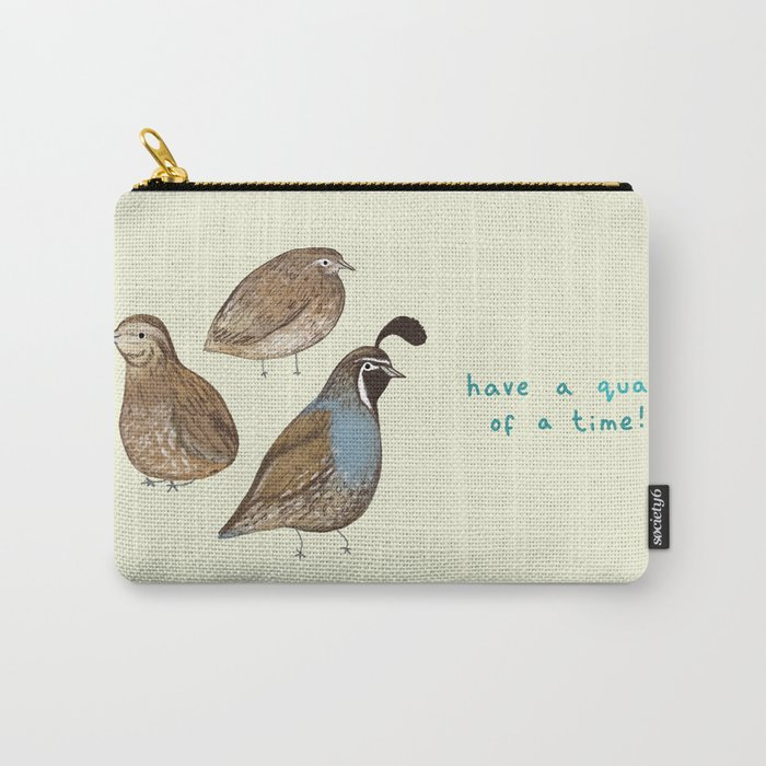 Quail of a Time Carry-All Pouch