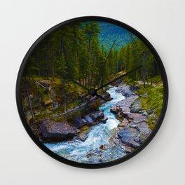 Beauty Creek in Jasper National Park, Canada Wall Clock