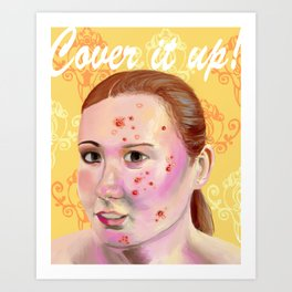 Cover It Up Art Print