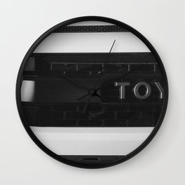 """TOY"" Tundra // Black and White Monster Truck Geared Out Big Wheels Matte Black Grille Wall Clock"