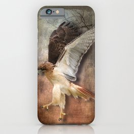 Red Tail Hawk in Vintage Light iPhone Case