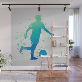 Abstract Soccer Player Wall Mural