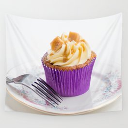Banoffee Cupcake Wall Tapestry