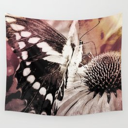 coneflower and butterfly Wall Tapestry
