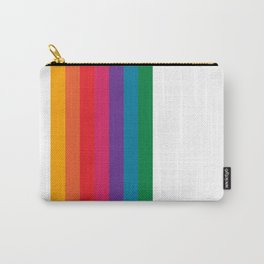 Retro Bright Rainbow - Straight Carry-All Pouch