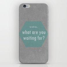 Concrete & Letters II iPhone & iPod Skin