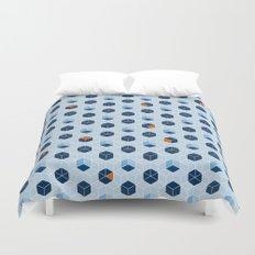 Blue Cubes Duvet Cover