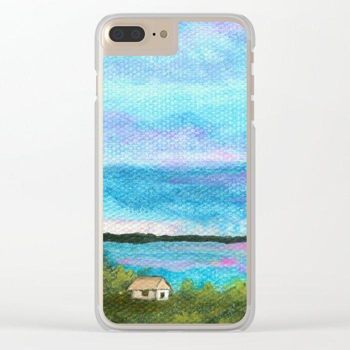 Good Morning, Beach House Sunrise Clear iPhone Case