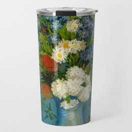 Vincent Van Gogh Vase With Cornflowers And Poppies Travel Mug