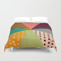umbrella Duvet Covers featuring Umbrella by Louise Machado