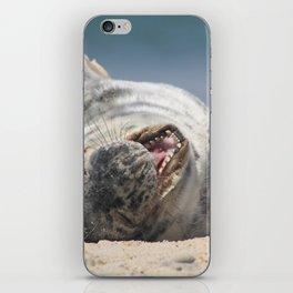 Yawning Babe iPhone Skin