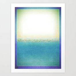 Vintage Beach (Or Memory of a Summer Day) Art Print