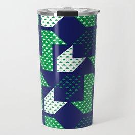 Clover&Nessie Denim/Spinach Travel Mug