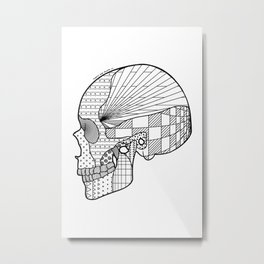 Tweny One Pilots Skull (REDUX) Metal Print