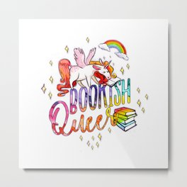 Bookish Queer Metal Print