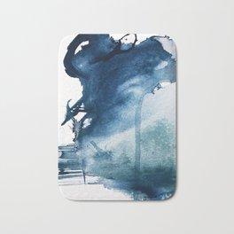 Pacific Grove: a pretty minimal abstract piece in blue by Alyssa Hamilton Art Bath Mat