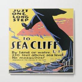 Vintage poster - Sea Cliff Metal Print