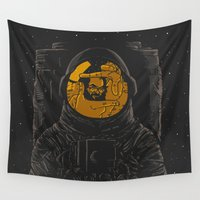 kubrick Wall Tapestries featuring Dark side of the moon by Rodrigo Ferreira