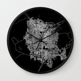 Las Vegas map Wall Clock
