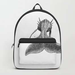 Horned Whale B/W Backpack