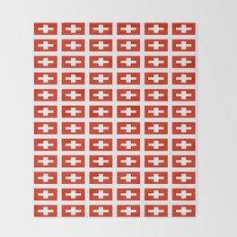 flag of Switzerland -,Swiss,Schweizer, Suisse,Helvetic,zurich,geneva,bern,godard,heidi Throw Blanket