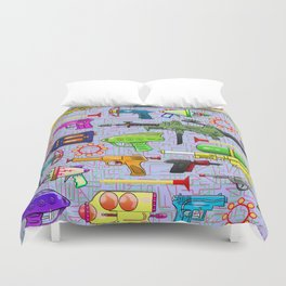 Vintage Toy Guns Duvet Cover