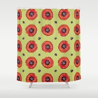 firefly Shower Curtains featuring Firefly by Cailee Corbett
