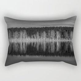 Idyllic summer landscape with crystal clear lake Rectangular Pillow