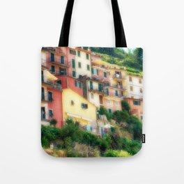 Manarola Hillside Glow, Manarola, Cinque Terre, Italy Tote Bag