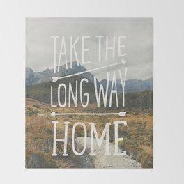 TAKE THE LONG WAY Throw Blanket