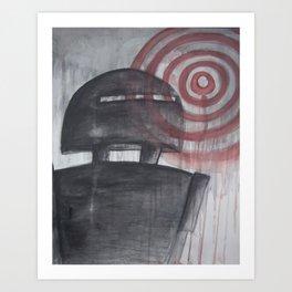 Bulls-Eye Robot Art Print