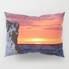 Golden Sunset on Sea and  Snow Pillow Sham