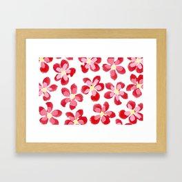 Posey Power - Red Multi Framed Art Print