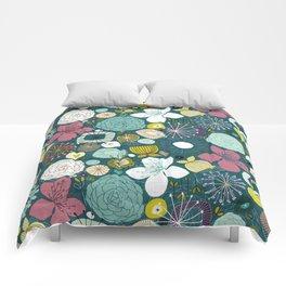 oriental blooms peacock Comforters