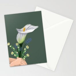 Calla Lillies and Blue Bonnets Stationery Cards