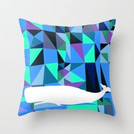 Whale art Geometric triangles artwork Throw Pillow