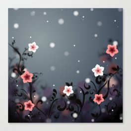 Pink and white flowers - Elegant Canvas Print