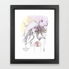 Hairs as Hands Framed Art Print