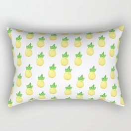 Tropical watercolor green yellow hand painted pineapple Rectangular Pillow