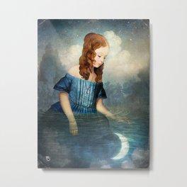 Drowned Moon Metal Print