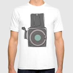 Hasselblad MEDIUM White Mens Fitted Tee