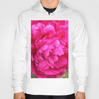 peony Hoodies featuring Peony by Stecker Photographie