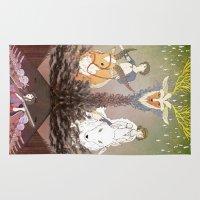mononoke Area & Throw Rugs featuring Mononoke Hime by Lady Sugar